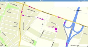 map to faranani